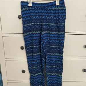 Blue tight ankle hollister pants